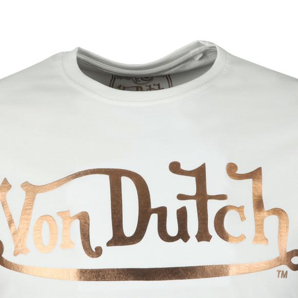 Von Dutch Mens White Classic Logo T Shirt main image