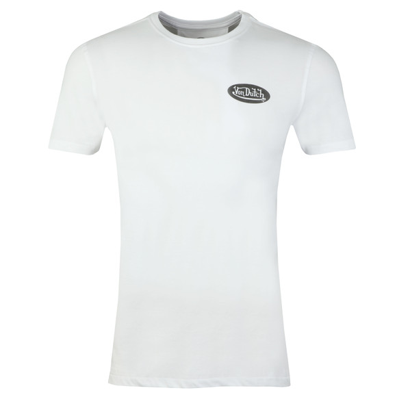 Von Dutch Mens White Back Logo T Shirt main image