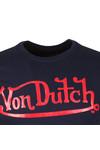 Von Dutch Mens Blue Classic Logo T Shirt