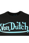 Von Dutch Mens Black Classic Logo T Shirt