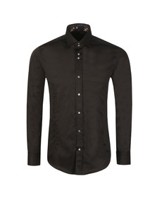 Guide London Mens Black Plain LS Shirt