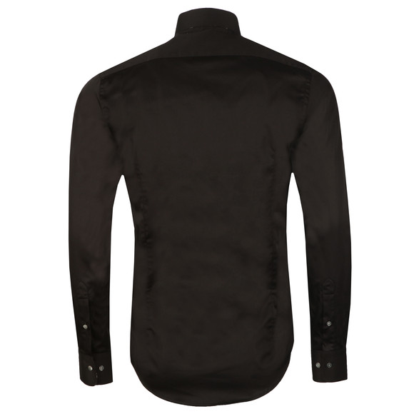 Guide London Mens Black Plain LS Shirt main image