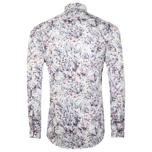 Guide London Mens White L/S Abstract Print Shirt main image