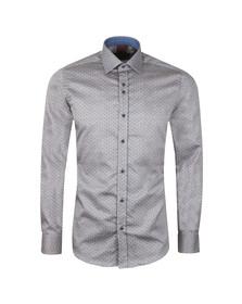 Guide London Mens Blue Polka Dot LS Shirt