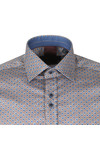 Guide London Mens Blue Polka Dot LS Shirt