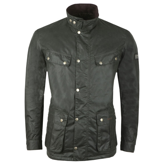 Barbour International Mens Green Duke Wax Jacket main image