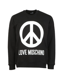 Love Moschino Mens Black Large Peace Sweatshirt