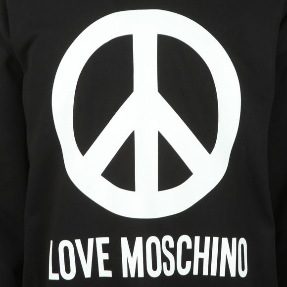 Love Moschino Mens Black Large Peace Sweatshirt main image