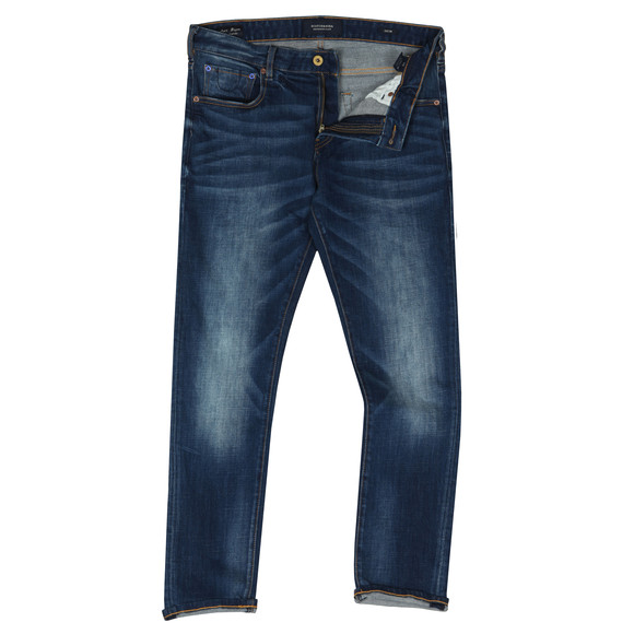 Scotch & Soda Mens Blue Skim Jean