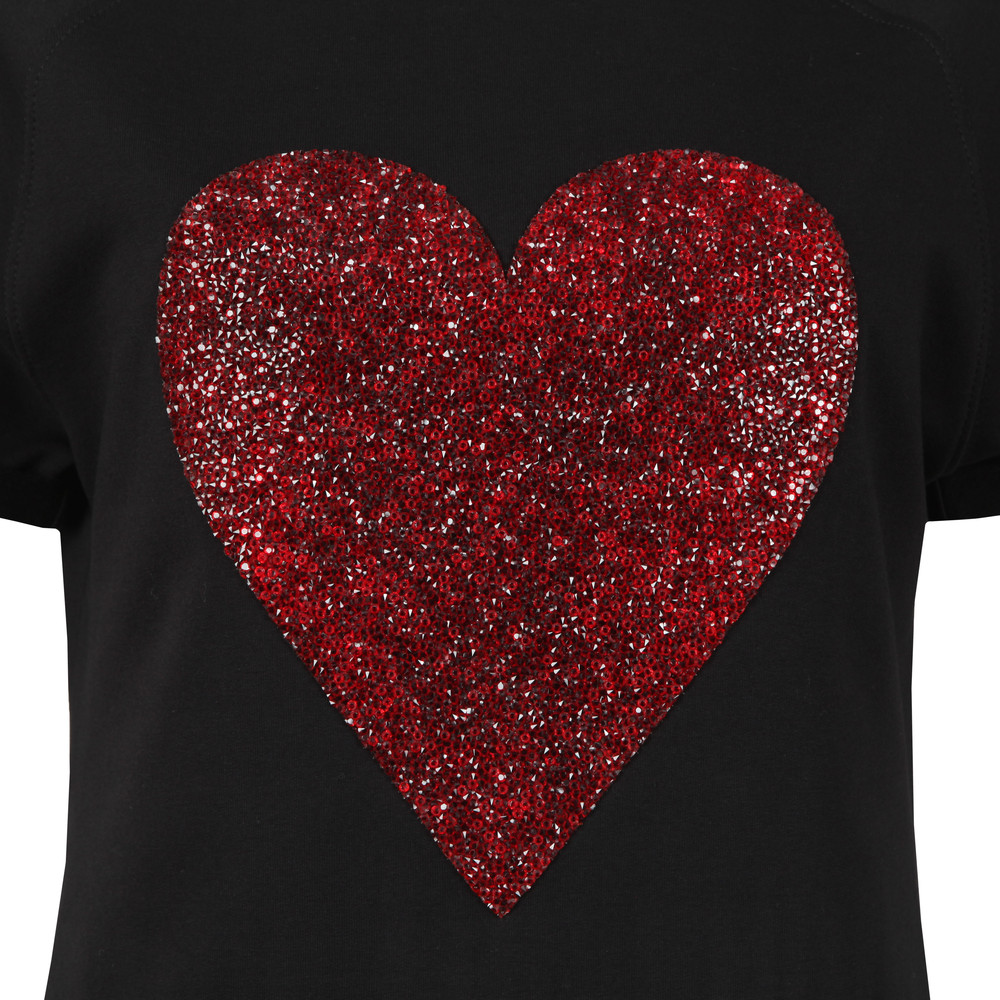 Diamante Heart Logo Sweatshirt Dress main image