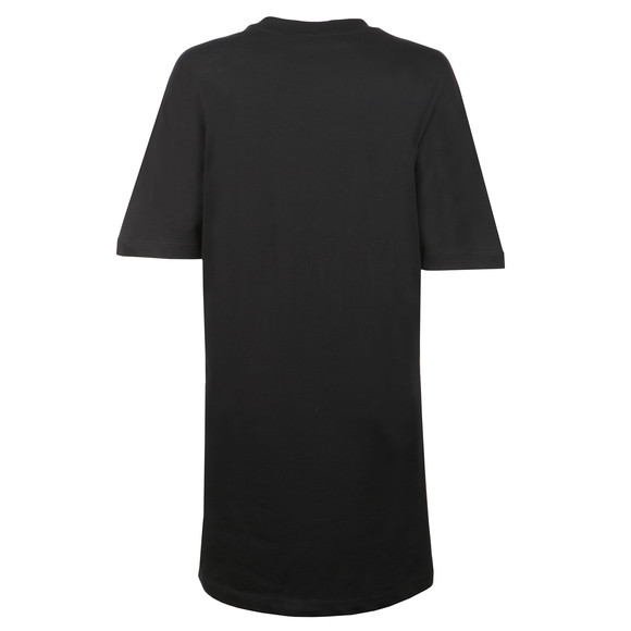 Love Moschino Womens Black Silver Logo T Shirt Dress main image