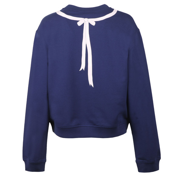 Love Moschino Womens Blue Medal Logo Sweatshirt main image