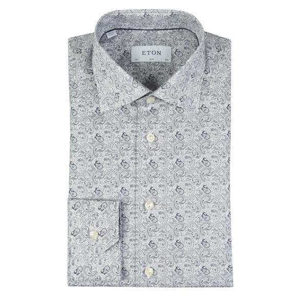 Eton Mens Blue All Over Paisley Shirt main image