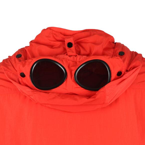C.P. Company Mens Red Nylon Goggle Hooded Overshirt main image