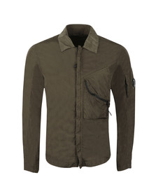 C.P. Company Mens Grey Nylon Chrome Overshirt