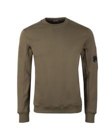 C.P. Company Mens Green Fleece Viewfinder Sweatshirt