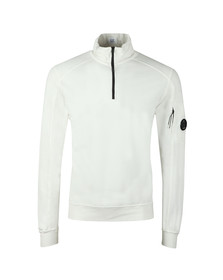 C.P. Company Mens Off-White Half Zip Sweat