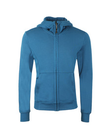 C.P. Company Mens Blue Full Zip Goggle Hoody