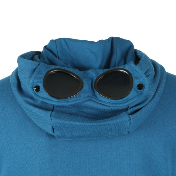 C.P. Company Mens Blue Full Zip Goggle Hoody main image