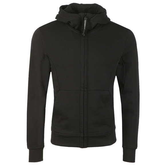 C.P. Company Mens Black Full Zip Goggle Hoody main image