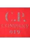 C.P. Company Mens Red Reflective Logo 019 T Shirt