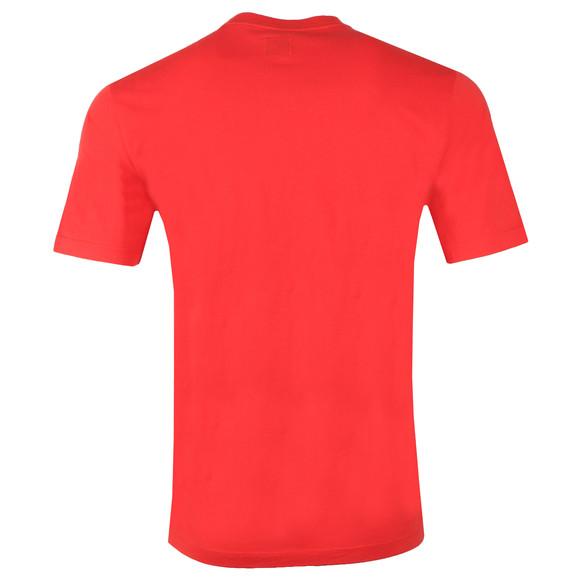 C.P. Company Mens Red Reflective Logo 019 T Shirt main image