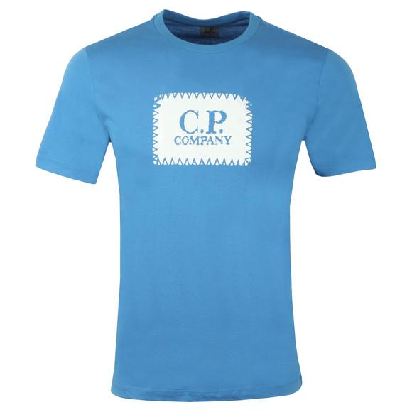 C.P. Company Mens Blue Stamp Logo T Shirt main image