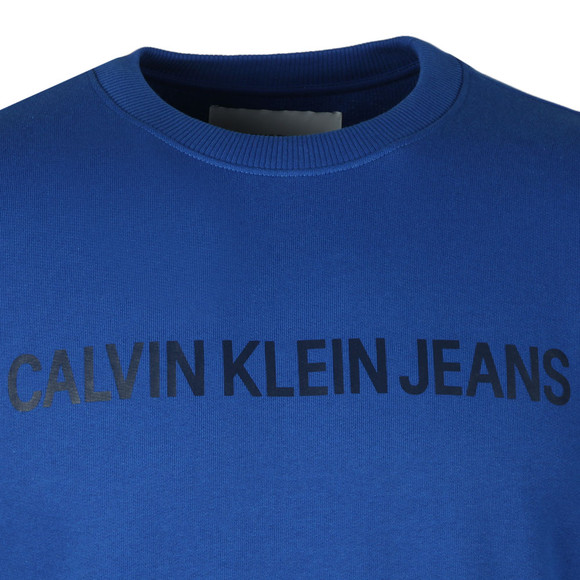 Calvin Klein Jeans Mens Blue Institutional Sweat main image