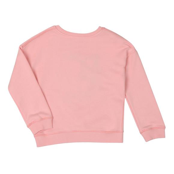 Kenzo Kids Girls Pink Sunglasses Tiger Logo Sweatshirt