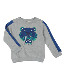 Kenzo Kids Boys Grey Perforated Tiger Sweatshirt