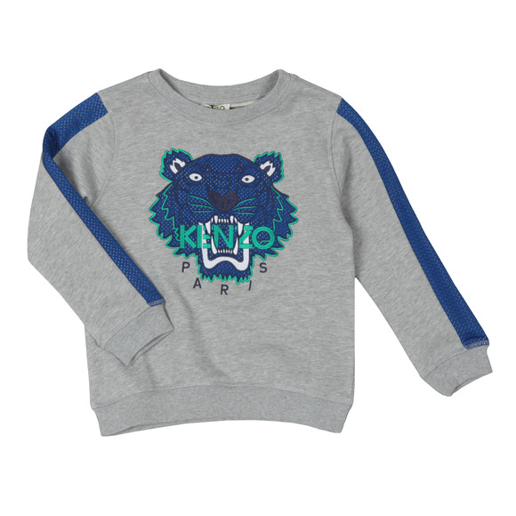 Kenzo Kids Boys Grey Perforated Tiger Sweatshirt main image