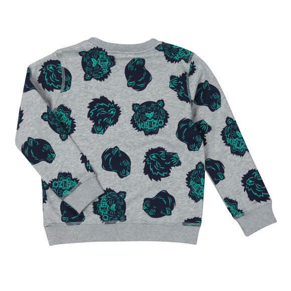 Kenzo Kids Boys Grey Fergusson Hawaii Kenzo Sweat main image