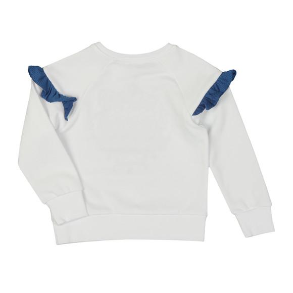 Kenzo Kids Girls White Girls Perforated Tiger Sweatshirt