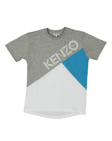 Kenzo Kids Boys White Panel Logo T Shirt