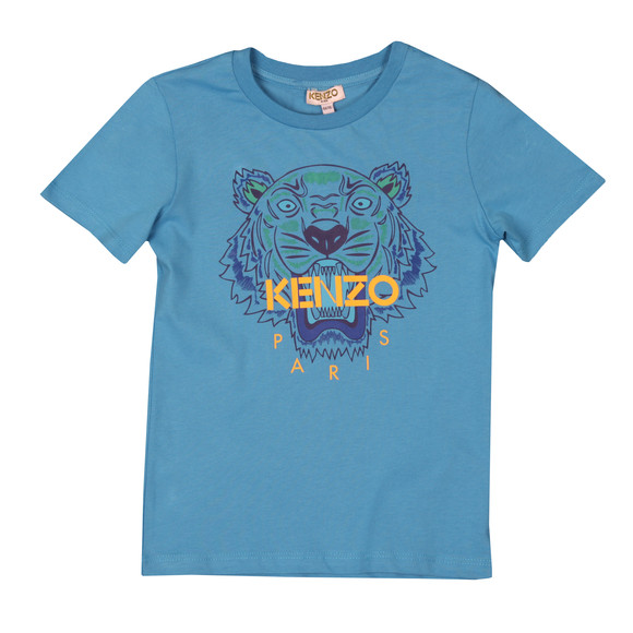 Kenzo Kids Boys Blue Printed Tiger T Shirt