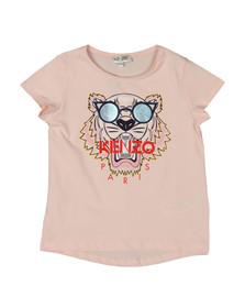 Kenzo Kids Girls Pink Glasses Tiger T Shirt