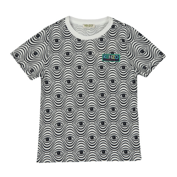 Kenzo Kids Girls White Eyes Print T Shirt