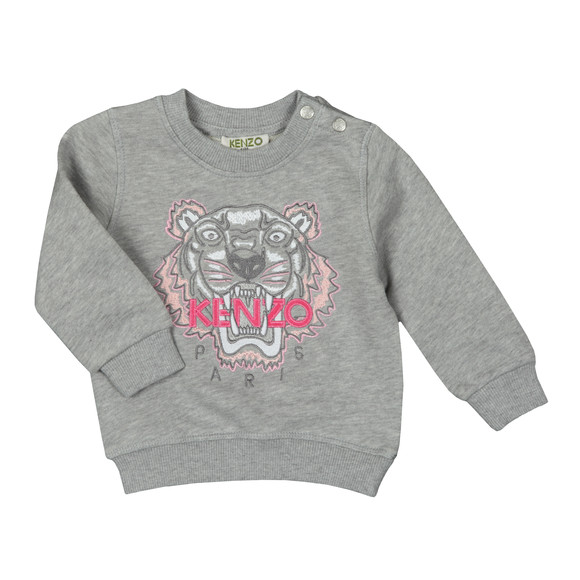 Kenzo Baby Girls Grey Tiger Sweatshirt