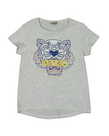 Kenzo Kids Girls Grey Printed Tiger T Shirt