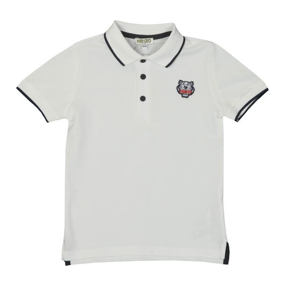 Kenzo Kids Boys White Tipped Logo Polo Shirt main image