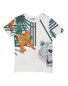 Kenzo Kids Boys White Faron Hawaii T Shirt
