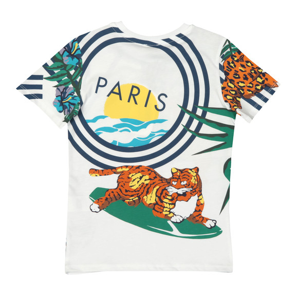 Kenzo Kids Boys White Faron Hawaii T Shirt main image