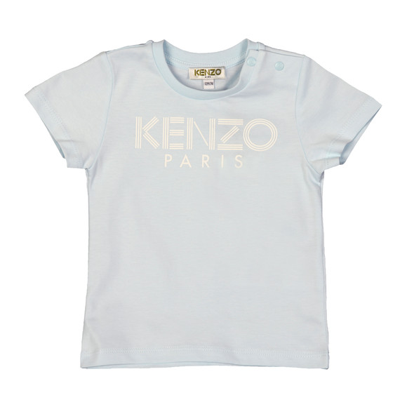 Kenzo Baby Boys Blue Logo  T Shirt main image