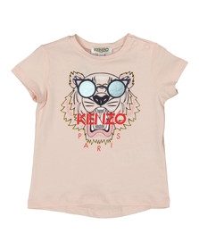 Kenzo Baby Girls Pink Glasses Logo T Shirt
