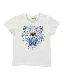 Kenzo Baby Boys White Printed Tiger T Shirt