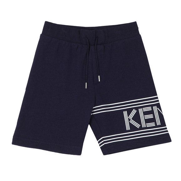 Kenzo Kids Boys Blue Logo Sweat Shorts main image