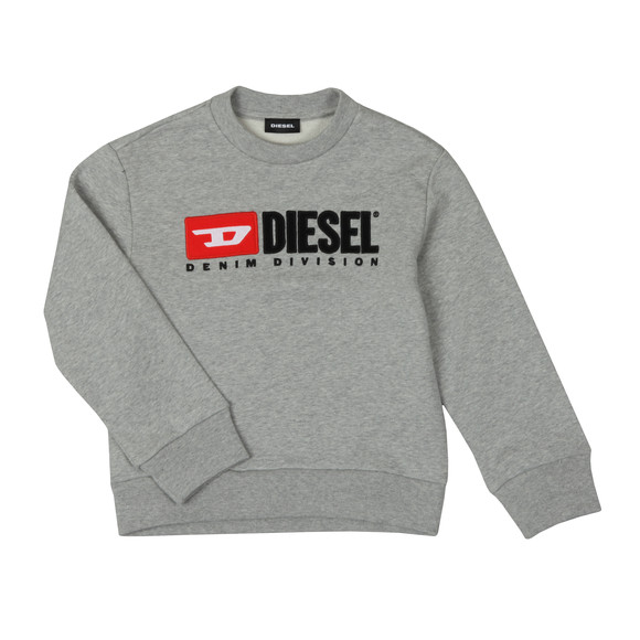 Diesel Boys Grey Diesel Denim Sweatshirt main image