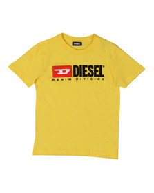 Diesel Boys Yellow Diesel Just Division Mag T-Shirt