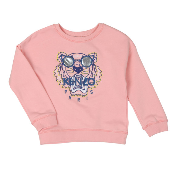 Kenzo Baby Girls Pink Sunglasses Tiger Sweatshirt main image