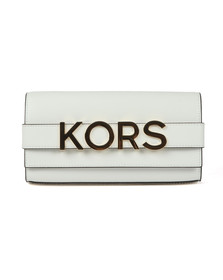 Michael Kors Womens White Bellamie Strap Clutch